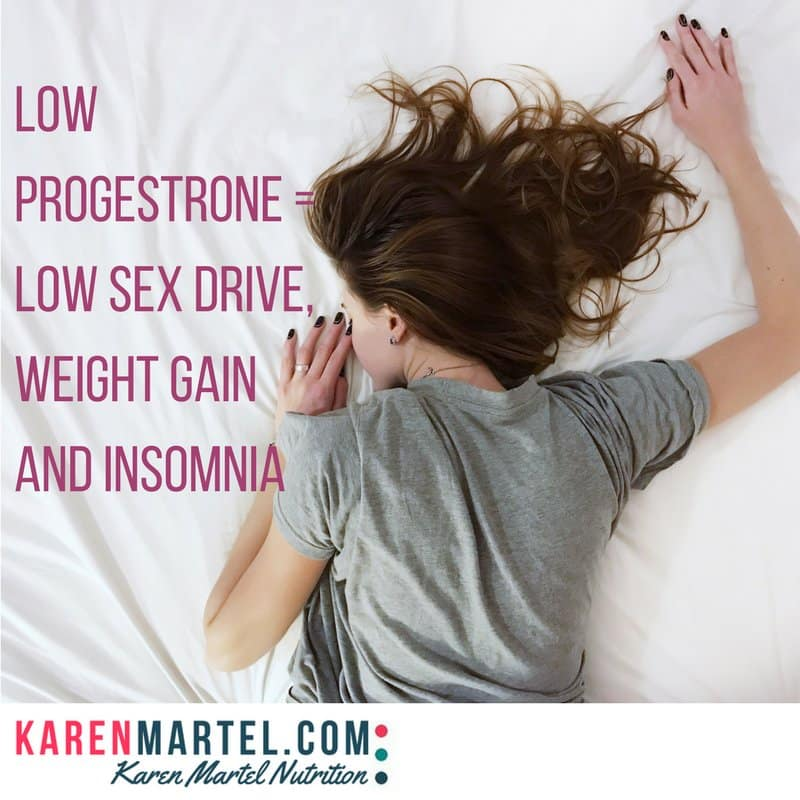 Low progestrone = low sex drive, weight gain and insomnia