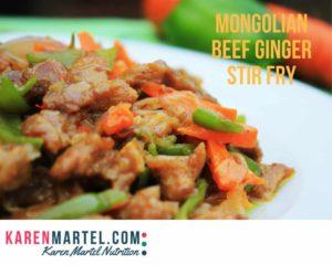 Mongolian Beef Ginger Stir Fry