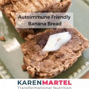 Autoimmune Friendly Banana Bread
